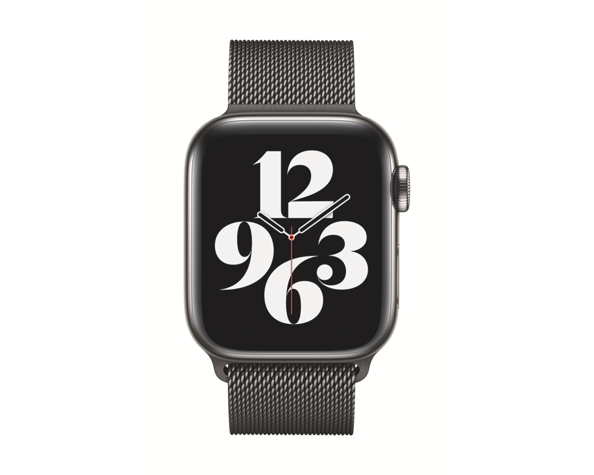 Apple Watch 44mm Armband Milanesisk Loop Grafit