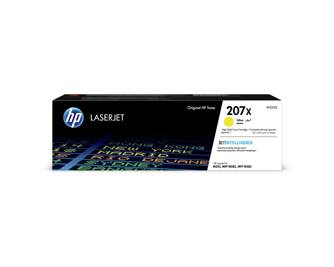 HP 207X. Colour toner page yield: 3150 pages, Printing colours: Yellow, Quantity per pack: 1 pc(s)
