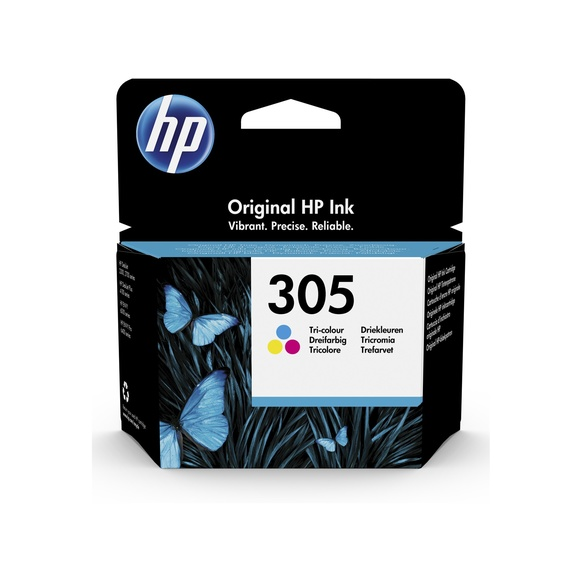HP 305 Original Ink Cartridge - Tri-colour - Inkjet - 100 Pages