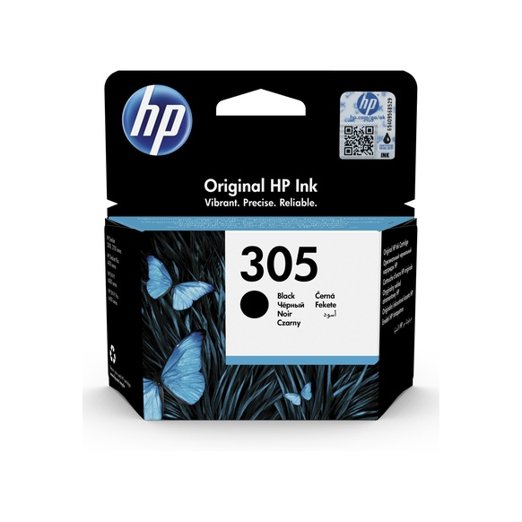 HP 305 Original Ink Cartridge - Pigment Black - Inkjet - Standard Yield - 120 Pages - 1 Pack