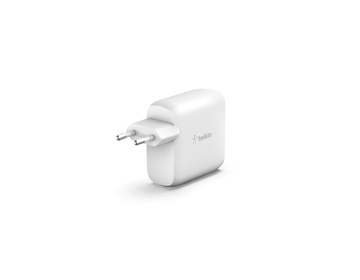 Belkin - 63W GaN dubbel laddare med 1 USB-C 45W, 1 USB-C 18W (60 W using 1 port)